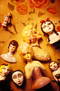 Ceramic Metal Prints - Collectable dolls Metal Print by Garry Gay
