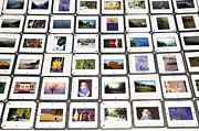 Analog Framed Prints - Collection of color slides Framed Print by Matthias Hauser