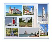 North Point Posters - Collection of Lighthouses Poster by Jack Schultz