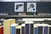 Art Product Prints - Collection Of Thrillers In A Public Print by Corepics