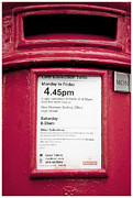 Post Box Framed Prints - Collection Time 4.45 PM Framed Print by Heiko Koehrer-Wagner