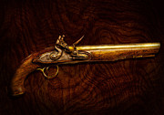 Mancave Prints - Collector - Gun - Flintlock Pistol  Print by Mike Savad