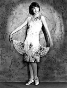 Satin Dress Prints - Colleen Moore, Circa Mid To Late 1920s Print by Everett