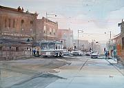 Watercolor Figure Painting Prints - College Avenue - Appleton Print by Ryan Radke