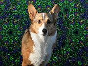 Collie Digital Art Metal Prints - Collie Metal Print by Bill Cannon
