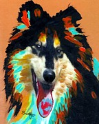 Collie Painting Framed Prints - Collie Framed Print by Char Swift