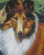 Collie Paintings - Collie Portrait by Lee Ann Shepard