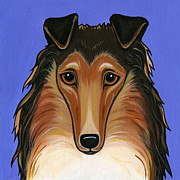 Dog Breeds Paintings - Collie Rough by Leanne Wilkes