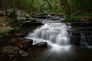Heber Springs Prints - Collins Creek Falls Print by Renee Hardison