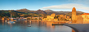 Languedoc Prints - Collioure at dawn Print by Brian Jannsen