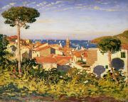 Rooftops Paintings - Collioure by James Dickson Innes