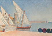 Paul Signac Paintings - Collioure Les Balancelles by Paul Signac