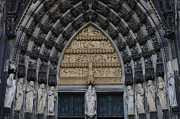 Religious Statues Prints - Cologne Cathedral Print by Bob Christopher