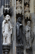 Religious Statues Prints - Cologne Cathedral Statues Print by Bob Christopher
