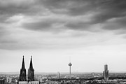 Cologne Prints - Cologne Skyline Print by Nina Papiorek