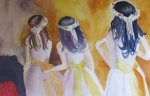 Latinas Prints - Colombian Wedding Party TWO Print by Carole Johnson