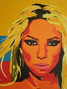 Shakira Painting Prints - Colombiana Print by Adrienne S