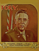 U.s Army Painting Metal Prints - Colonel Joseph J. Healy Metal Print by Dean Gleisberg