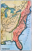 Thirteen Posters - Colonial America Map Poster by Granger