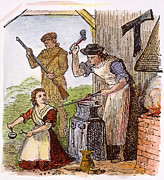 1770s Prints - COLONIAL BLACKSMITH, 18th C Print by Granger