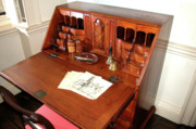 Drawers Posters - Colonial era desk at Yorktown Poster by Carl Purcell