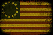 Bars Digital Art Prints - Colonial Flag Print by Bill Cannon