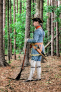 French Revolution Prints - Colonial French Officer before Battle Print by Randy Steele