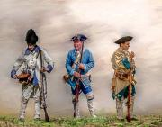 French And Indian War Prints - Colonial French Soldier Review Print by Randy Steele