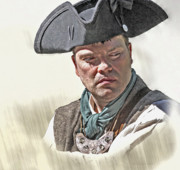 Revolution Digital Art - Colonial Militiaman Portrait by Randy Steele