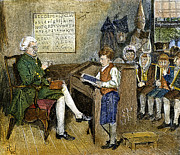 Colonist Posters - Colonial Schoolmaster Poster by Granger