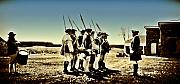 Regiment Digital Art Framed Prints - Colonial Soldiers Standing at Attention Framed Print by Bill Cannon