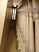 Balusters Prints - Colonial Staircase Opus 3 Print by Katherine Howard