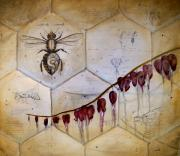 Nature Study Painting Metal Prints - Colony Collapse Disorder Metal Print by Kristin Llamas