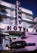 Ventage Framed Prints - Colony Hotel Framed Print by Bob Whitt