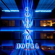 Bright Lights Posters - Colony Hotel II Poster by David Bowman