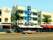 T-bird Painting Framed Prints - Colony Hotel Miami Beach Framed Print by Frank Dalton