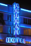 Frank Ocean Art Posters - Colony Hotel on Ocean Drive 2 Poster by Frank Mari