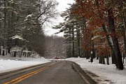 Winter Roads Prints - Color Along the Way Print by Richard Gregurich