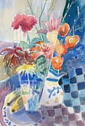 Pitcher Painting Originals - Color and Pattern by Marilyn Jacobson