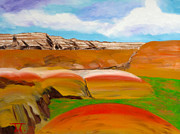 Badlands Painting Originals - Color Badlands by Troy Thomas