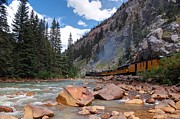 Train Pictures Prints - Color Canyon Steam Print by Ken Smith