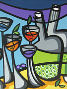 Fruit And Wine Paintings - Color Carnival-B by Mary Tere Perez