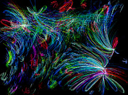 Flowers Digital Art - Color Chaos by Joshua Dwyer