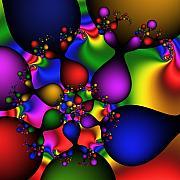 Color Drops  187 Print by Rolf Bertram