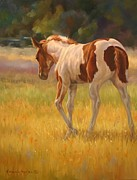 Color Foal Print by Kathleen  Hill
