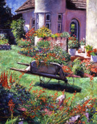 Flowerpots Prints - Color Garden Impression Print by David Lloyd Glover