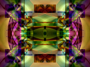 Meditative Digital Art - Color Genesis 1 by Lynda Lehmann