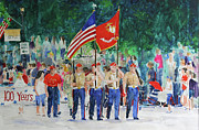 4th July Painting Prints - Color Guard Print by William Tockes