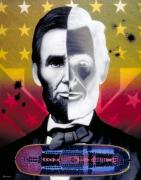Lincoln Paintings - Color In Black and White by Ross Edwards