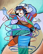 Lady Mixed Media Prints - Color In Motion Print by Anthony Falbo